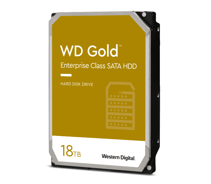 WD Gold SATA HDD voor datacenters