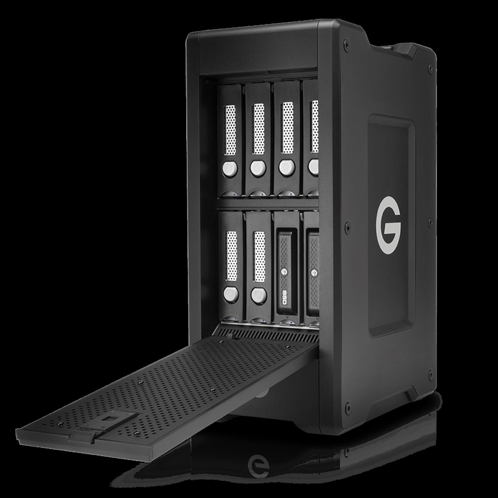 G-Technology 18TB G-SPEED Shuttle XL Thunderbolt 2 w/ ev Series Bay, Black, 8-Bay Storage System - 0G04702