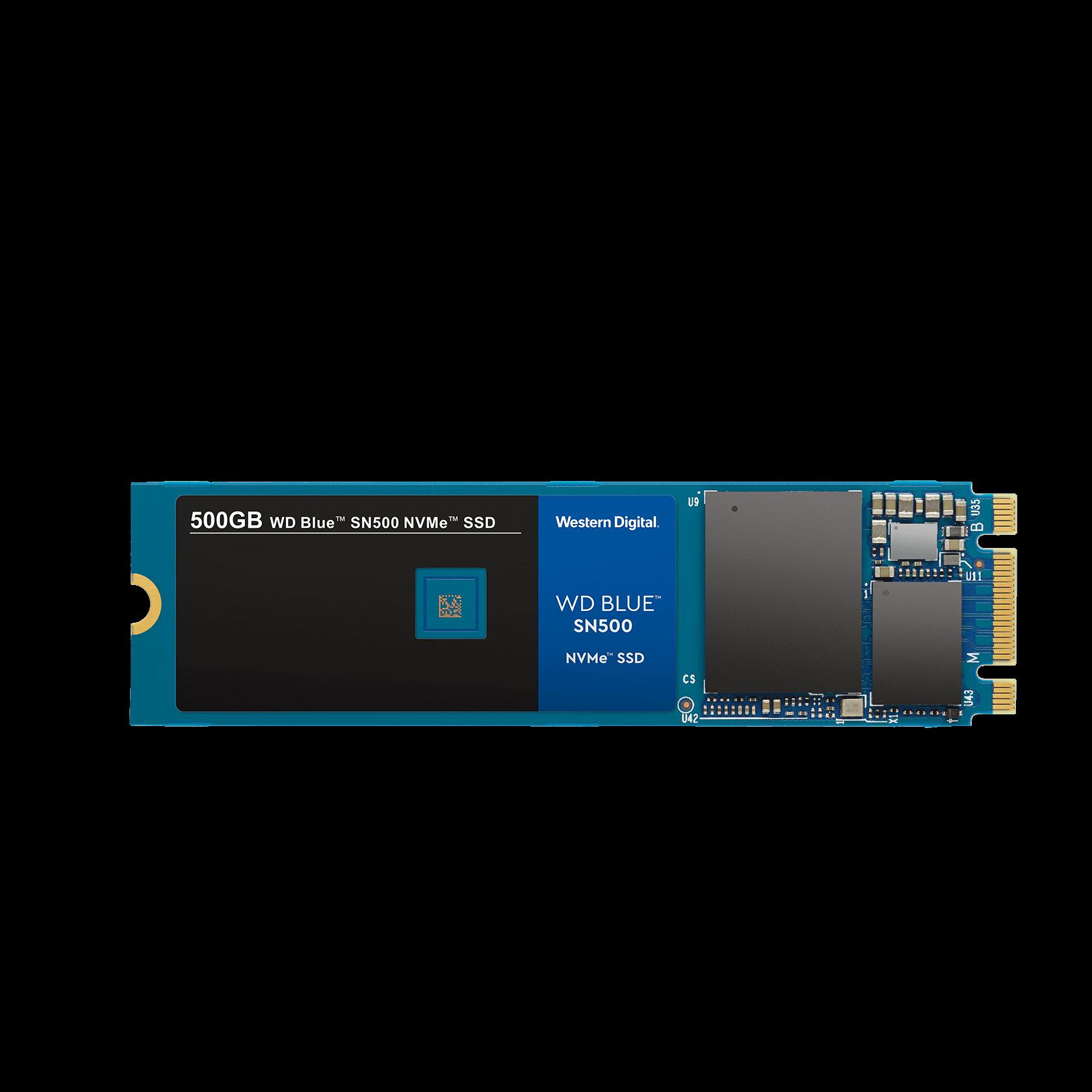 Western Digital WD SN500 NVMe 250GB, Blue - WDS250G1B0C