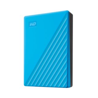 MyPassport 4-5 TB Blue Left Angled