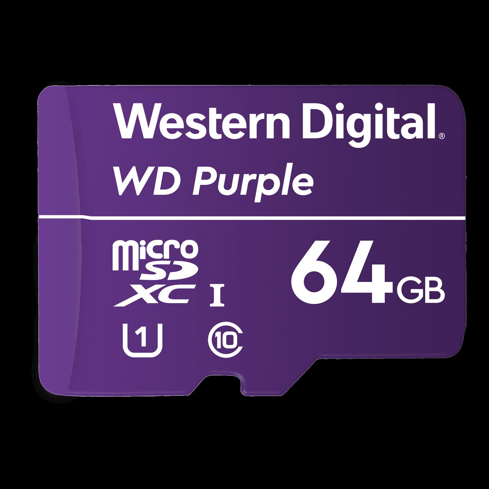 Western Digital WD MicroSD 64GB, Purple - WDD064G1P0A ...