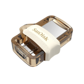 Ultra Dual Drive m30 USB 3.0 micro USB closed - Gold
