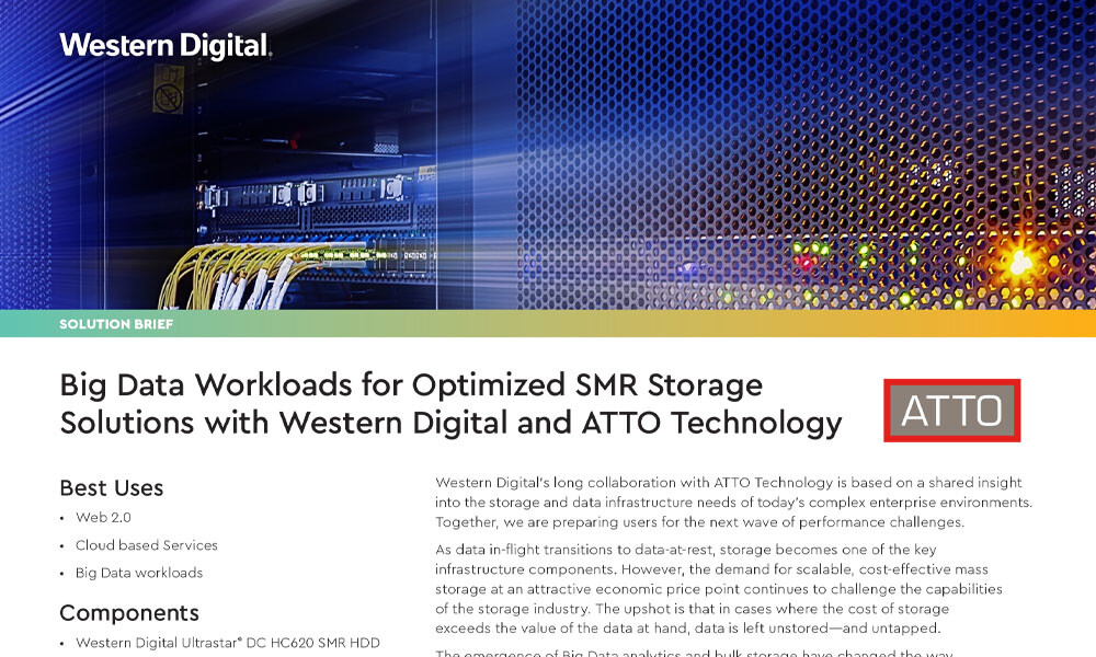 Big Data Workloads for Optimized SMR Storage Solutions with Western Digital and ATTO Technology