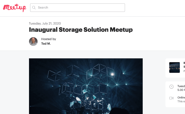 Join Storage Solutions Meetup Group