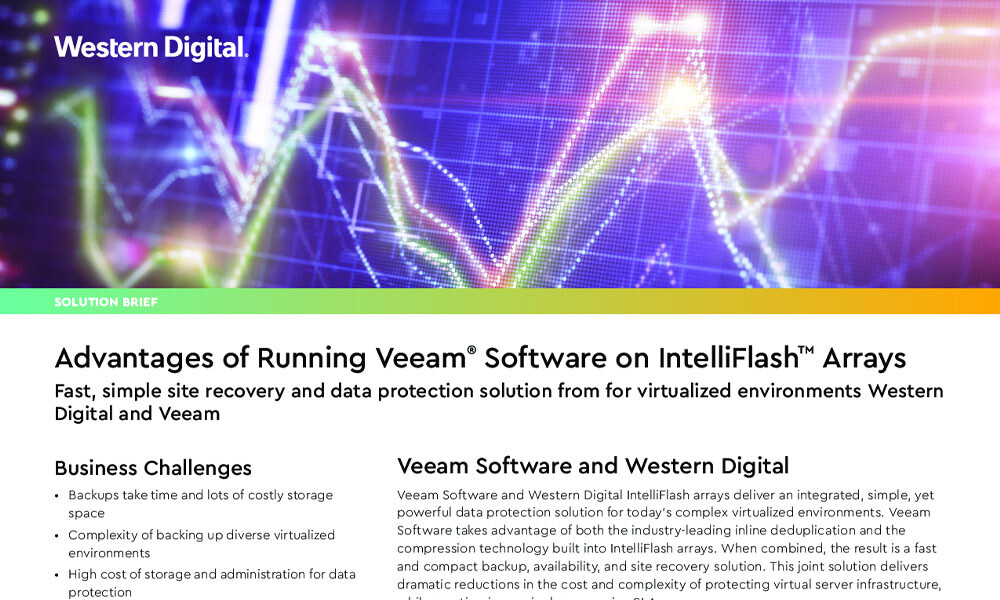 Advantages of Running Veeam Software on IntelliFlash Arrays