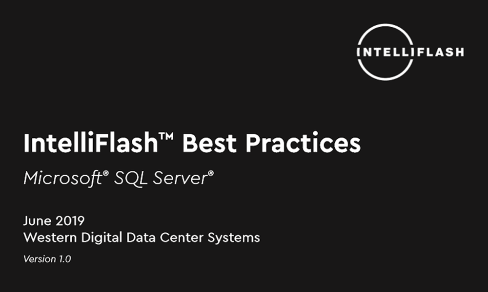 IntelliFlash Best Practices with SQL Server