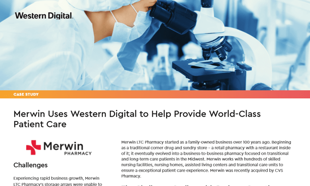 Merwin Uses Western Digital to Help Provide World-Class Patient Care