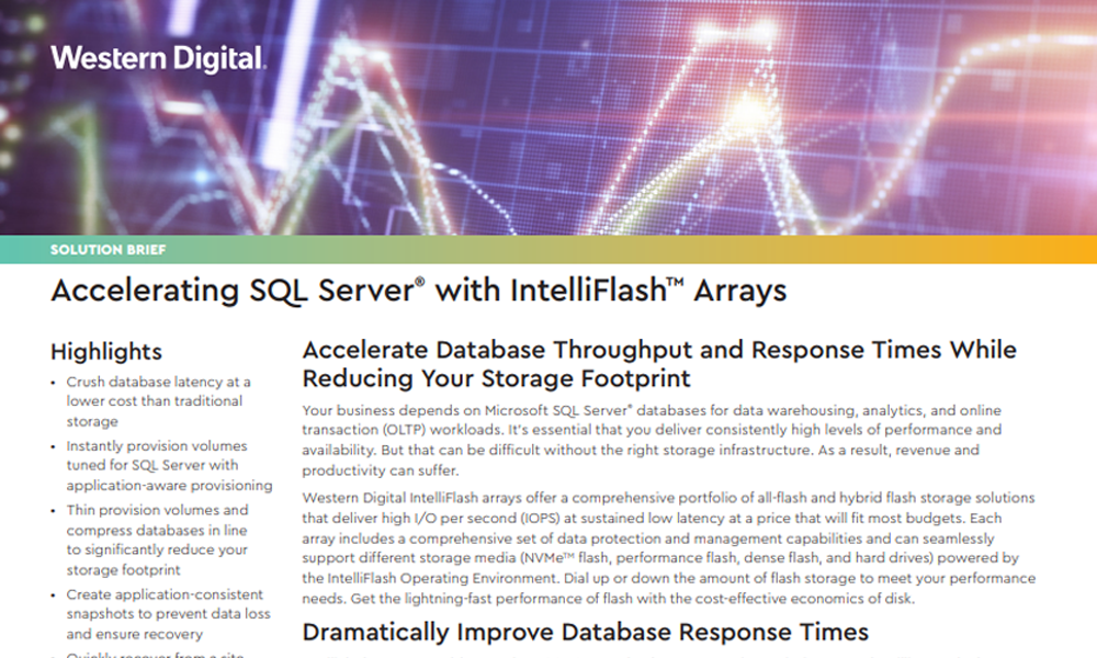 Accelerating SQL Server with Intelliflash Arrays