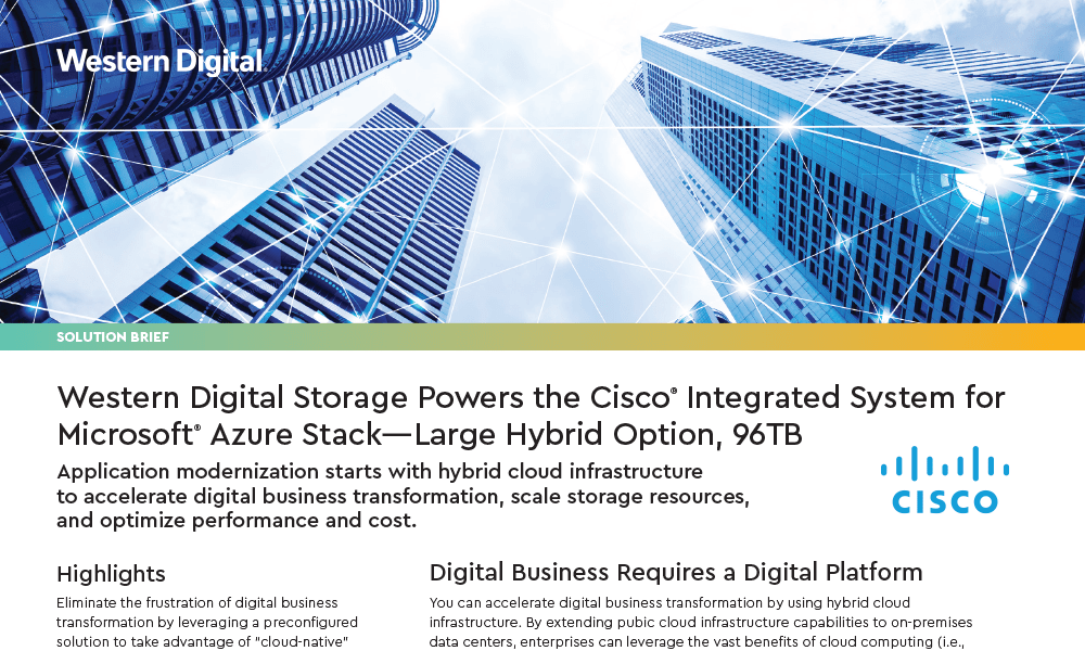 Western Digital Storage Powers the Cisco® Integrated System for Microsoft® Azure Stack