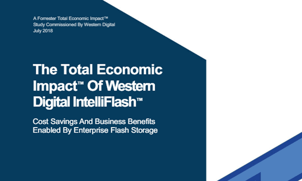 The Total Economic Impact of Western Digital Intelliflash