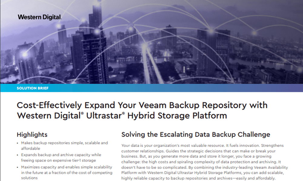 Cost-Effectively Scale Your Veeam Backup Repository with Hybrid Cloud Storage