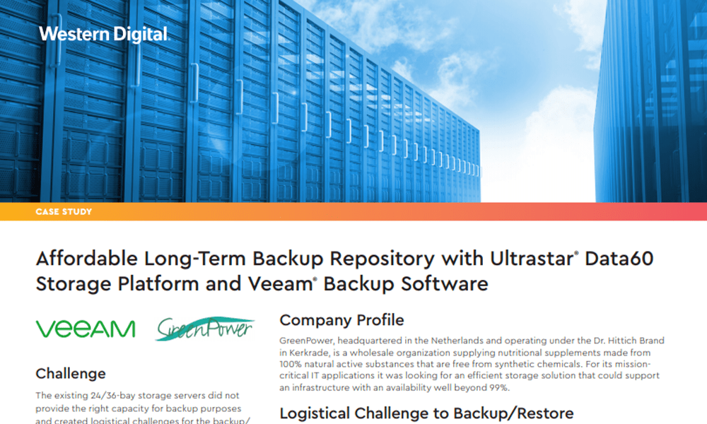 Affordable Long-Term Backup Repository for Veeam