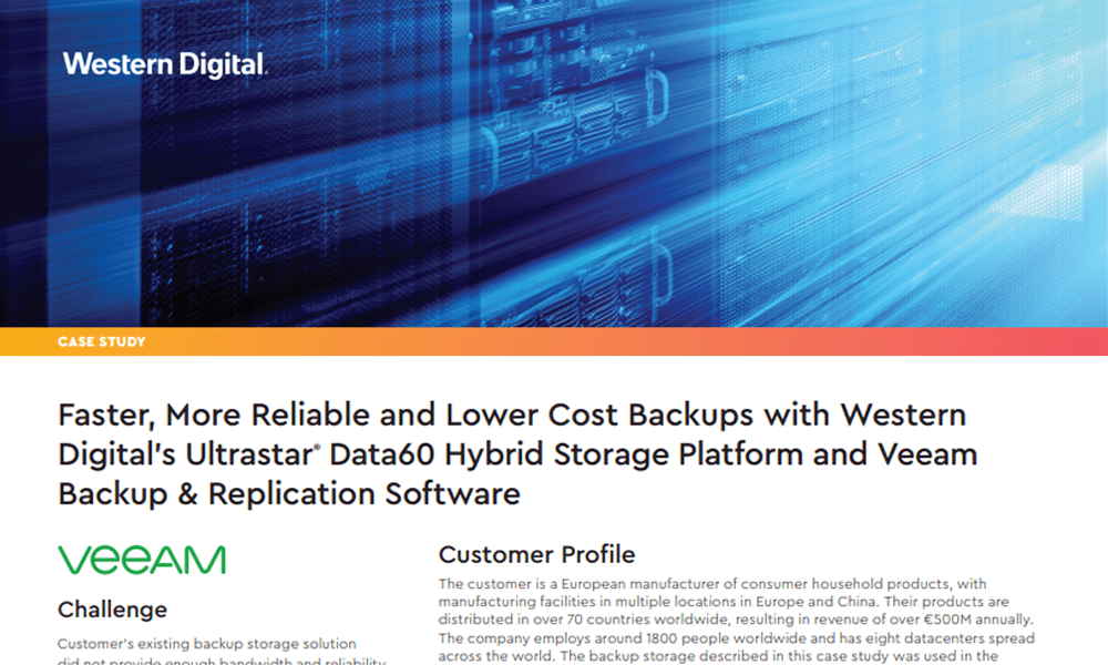Faster, More Reliable and Lower Cost Backups for Veeam