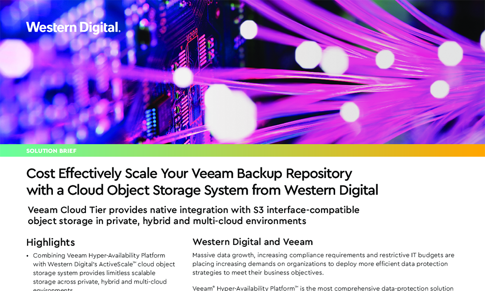 Expand Your Veeam Backup Repository with Cost Effective Ultrastar Storage Platform